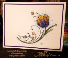 Smile Floral Card | Tracy Marie Lewis | www.stuffnthingz.com