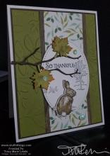 Bunny Thanksgiving Card | Tracy Marie Lewis | www.stuffnthingz.com