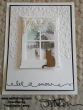 Cat In Window Let It Snow Card | Tracy Marie Lewis | www.stuffnthingz.com