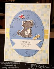Thanks For Taking Care Of Me Card | Tracy Marie Lewis | www.stuffnthingz.com