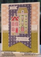 Card Tutorial - Four Different Designer Papers Thanks Card | Tracy Marie Lewis | www.stuffnthingz.com