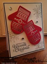 Mittens Warmth Of Christmas Card | Tracy Marie Lewis | www.stuffnthingz.com