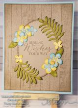 Flower Formed Best Wishes Color Challenge Card | Tracy Marie Lewis | www.stuffnthingz.com