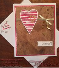 Heart Happiness Wood Texture Card | Tracy Marie Lewis | www.stuffnthingz.com