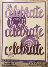 Celebrate In Purples Card | Tracy Marie Lewis | www.stuffnthingz.com