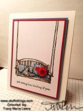 Just Sitting Here Thinking Of You Cat Card | Tracy Marie Lewis | www.stuffnthingz.com