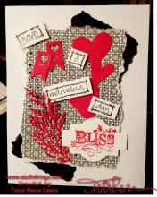 Red Black and White Bliss Valentine Card | Tracy Marie Lewis | www.stuffnthingz.com