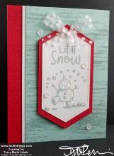 Display - Birch Snowman Let It Snow Card | Tracy Marie Lewis | www.stuffnthingz.com