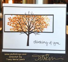 Fall Tree Thinking Of You Card | Tracy Marie Lewis | www.stuffnthingz.com