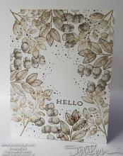 Simple Stamping Forever Fern Hello Card | Tracy Marie Lewis | www.stuffnthingz.com
