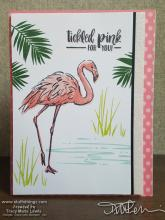 Flamingo Tickled Pink For You Card | Tracy Marie Lewis | www.stuffnthingz.com