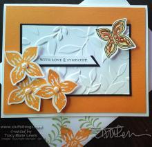 Feminine Floral Sympathy Card } Tracy Marie Lewis | www.stuffnthingz.com