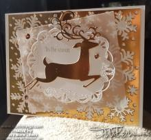 Copper On Copper Dashing Deer | Tracy Marie Lewis | www.stuffnthingz.com