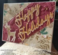 Happy Holidays Dashing Deer Card Front | Tracy Marie Lewis | www.stuffnthingz.com