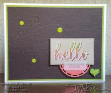 Hello Stitched Card | Tracy Marie Lewis | www.stuffnthingz.com