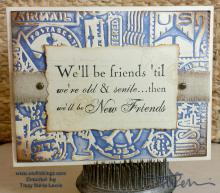 Senile Friends Card | Tracy Marie Lewis | www.stuffnthingz.com
