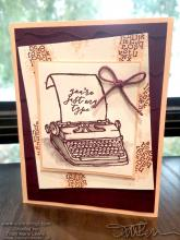Just My Type Card | Tracy Marie Lewis | www.stuffnthingz.com