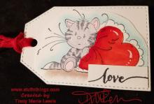 Kitten Love Tag For Mom | Tracy Marie Lewis | www.stuffnthingz.com