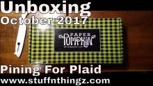 Unboxing My Paper Pumpkin - Pining For Plaid - October 2017 | Tracy Marie Lewis | www.stuffnthingz.com