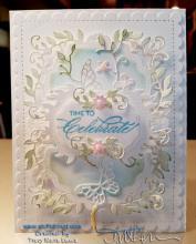 Mom's Frilly Birthday Card | Tracy Marie Lewis | www.stuffnthingz.com