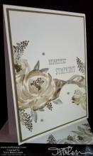 Neutral Roses Sympathy Card   Tracy Marie Lewis   www.stuffnthingz.com