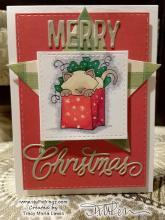 Plaid Star Newton Christmas Card | Tracy Marie Lewis | www.stuffnthingz.com