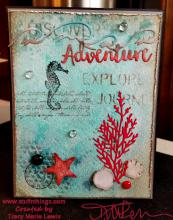 Ocean Adventure Watercolor Card | Tracy Marie Lewis | www.stuffnthingz.com