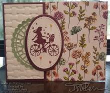 Happy Girl On A Bicycle Card   Tracy Marie Lewis   www.stuffnthingz.com