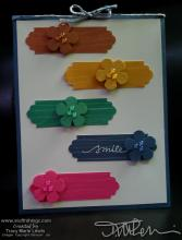 Sneak Peek In Color Smile Card | Tracy Marie Lewis | www.stuffnthingz.com