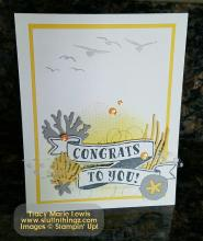 Congrats Color Challenge #64 Card | Tracy Marie Lewis | www.stuffnthingz.com