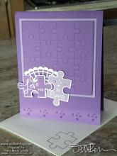 Purple Love You To Pieces Card | Tracy Marie Lewis | www.stuffnthingz.com