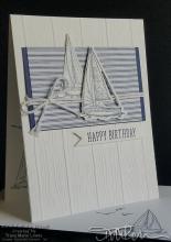 Navy Sailing Birthday Card | Tracy Marie Lewis | www.stuffnthingz.com