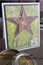 Star Thanks Masculine Multi Media Card | Tracy Marie Lewis | www.stuffnthingz.com