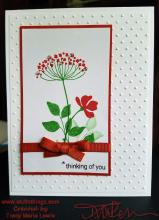 Orange Flower Thinking Of You Card | Tracy Marie Lewis | www.stuffnthingz.com