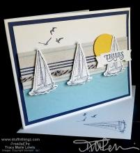 Thanks Sailboats Card | Tracy Marie Lewis