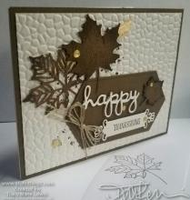 Vanilla Crackle With Maple Leaves Thanksgiving Card | Tracy Marie Lewis | www.stuffnthingz.com