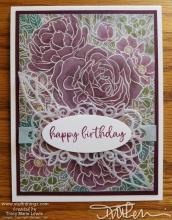 Retiring - Breathtaking Bouquet Birthday Card   Tracy Marie Lewis   www.stuffnthingz.com