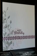 Gray And BlackBerry Birthday Card Two Ways | Tracy Marie Lewis | www.stuffnthingz.com