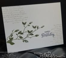 Leaves & Text Birthday Card #1 | Tracy Marie Lewis | www.stuffnthingz.com