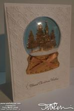 White With Copper Chapel Christmas Card #3 | Tracy Marie Lewis | www.stuffnthingz.com