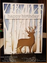 Masculine Woodland Birthday Card: | Tracy Marie Lewis | www.stuffnthingz.com