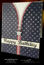 Patriotic Hoodie Birthday Card | Tracy Marie Lewis | www.stuffnthingz.com
