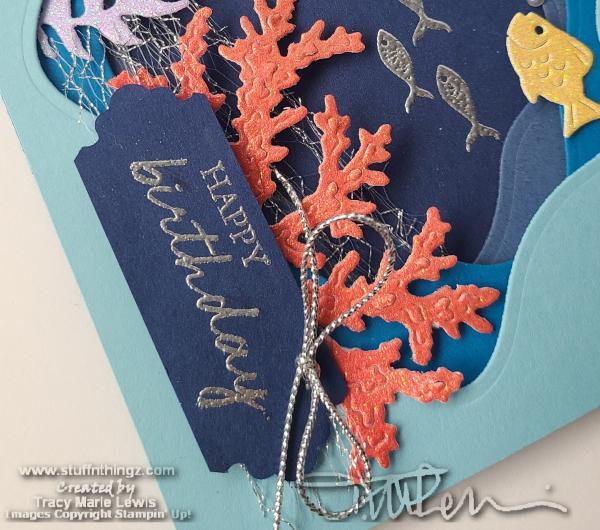 Seascape Diorama Birthday Card } Tracy Marie Lewis   www.stuffnthingz.com