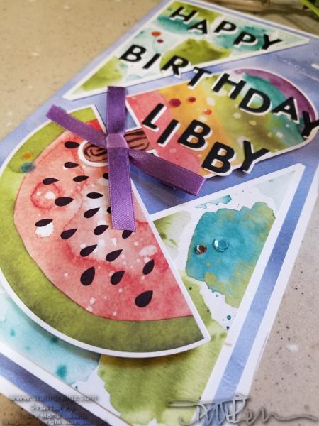 BIG birthday card for Libby | Tracy Marie Lewis | www.stuffnthingz.com