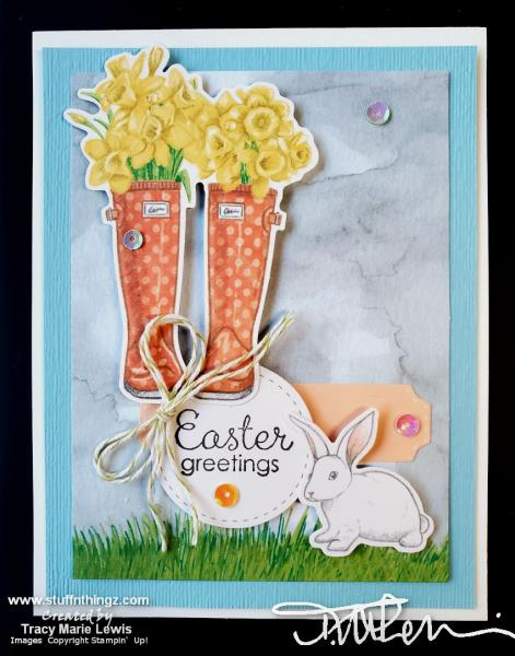 Alternatives - March 2020 Paper Pumpkin - Easter Card | Tracy Marie Lewis | www.stuffnthingz.com
