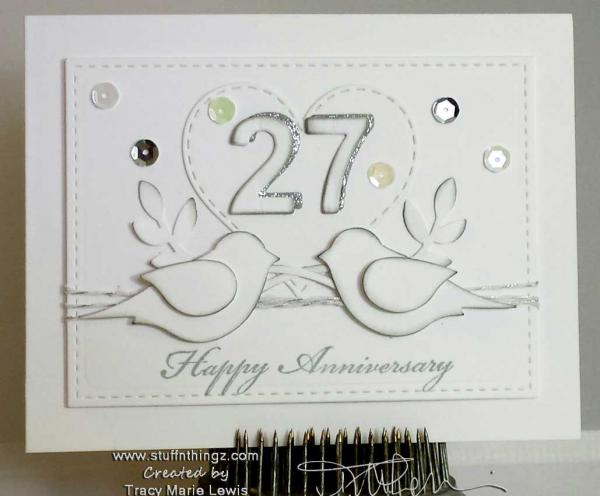My Mom's Anniversary Card | Tracy Marie Lewis | www.stuffnthingz.com