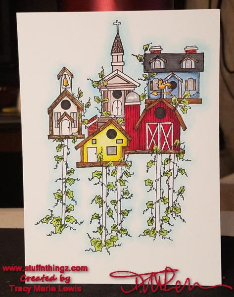 The Birdhouse Community Card   Tracy Marie Lewis   www.stuffnthingz.com