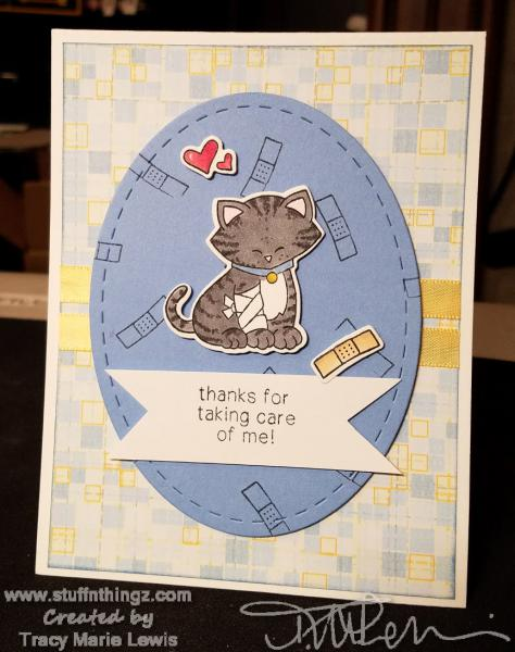 Thanks For Taking Care Of Me Card   Tracy Marie Lewis   www.stuffnthingz.com