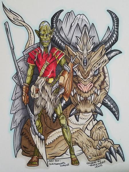 A Goblin And His Yak Dragon   Tracy Marie Lewis   www.stuffnthingz.com