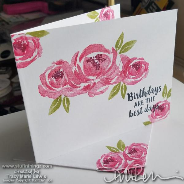 Melon Floral Birthday Card   Tracy Marie Lewis   www.stuffnthingz.com